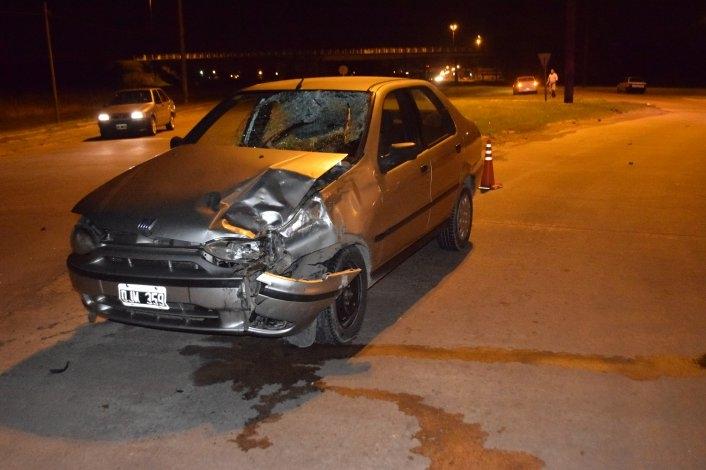 Un herido tras un violento accidente