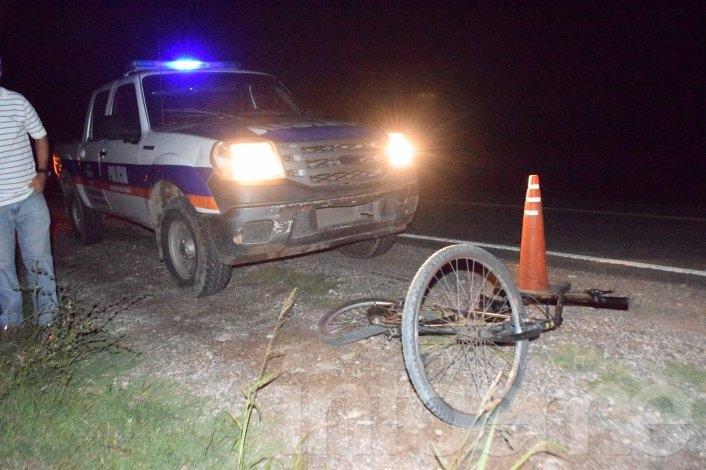 Un ciclista fue atropellado y un motociclista choca con un auto
