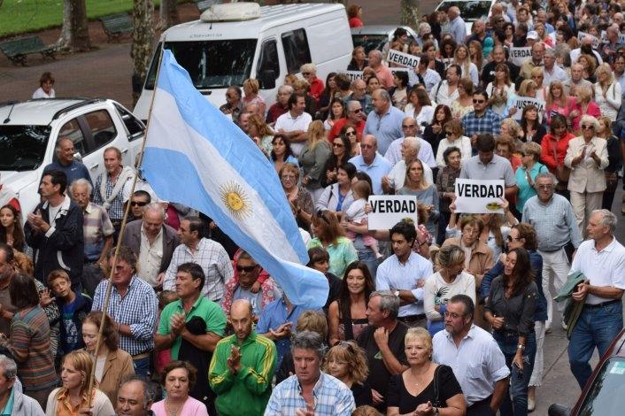 Las imágenes del #18F en Olavarría