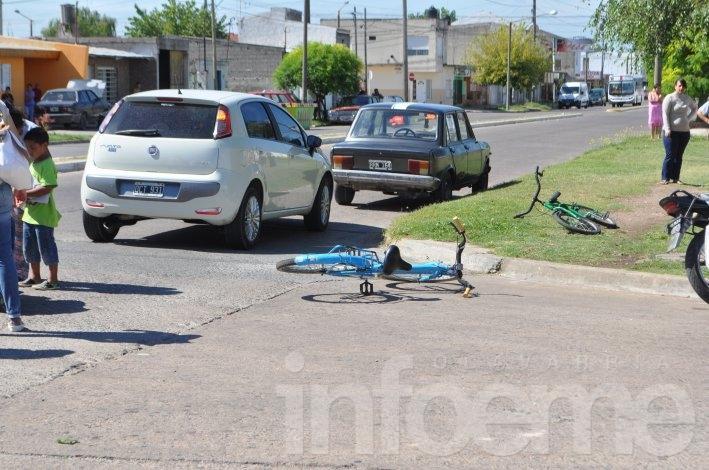 Dos accidentes casi en simultáneo en la Ciudad