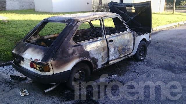 Pérdidas totales en el incendio de un auto