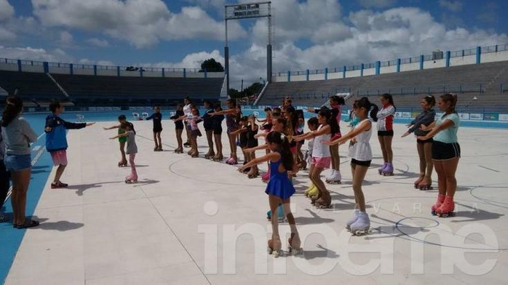 Patinadoras de Estudiantes en Mar del Plata
