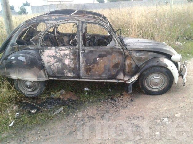 Pérdidas totales en un automóvil tras incendio