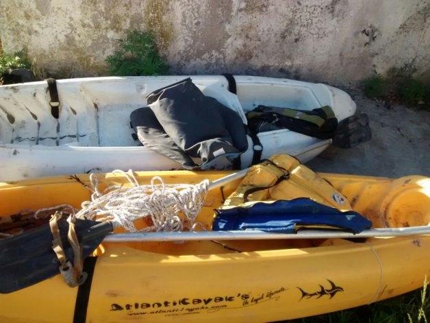 Marisol: atrapan a dos olavarrienses con carne robada dentro de sus kayaks