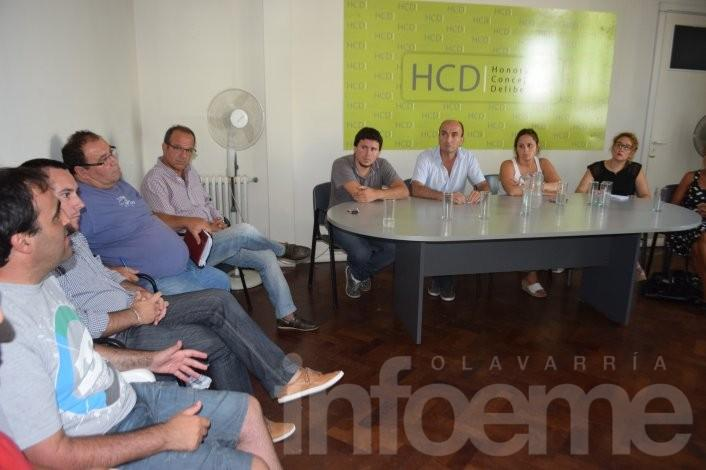 Concejales recibieron a los trabajadores despedidos del CDR