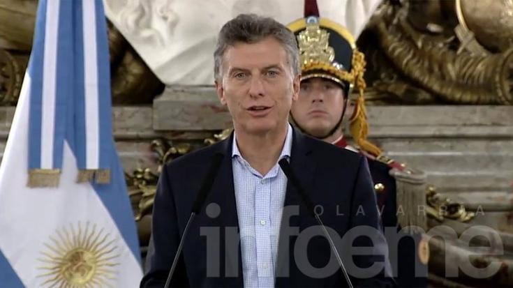 """Macri: """"El nuevo mínimo no imponible será de $30.000"""""""
