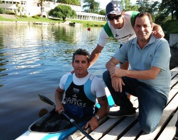 Vitale en el entrenamiento del atleta olímpico Lucas Díaz Aspiroz