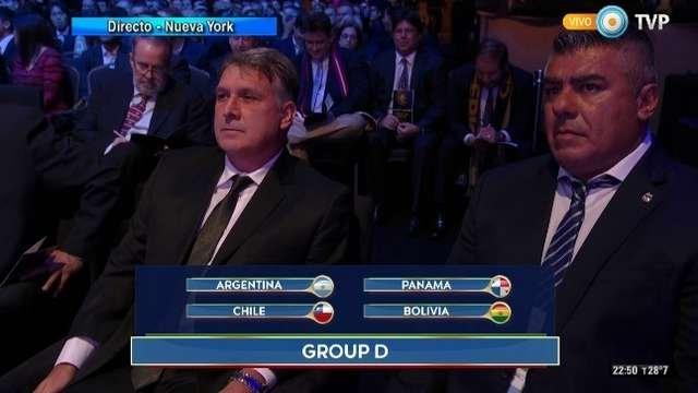 Debutamos con Chile, se sorteó la Copa América