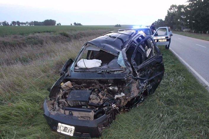 Camionero local chocó en Tandil: una mujer grave