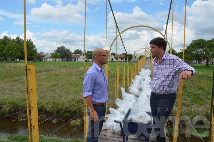 Puente de calle Merlo: hicieron prueba de carga