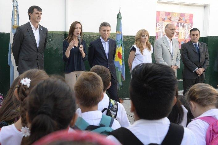 Macri dio inicio al ciclo lectivo junto a Vidal