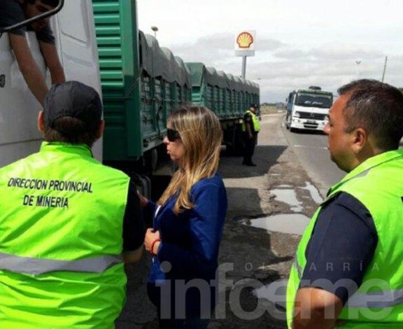 Provincia inició controles al transporte minero para evitar el sobrepeso de camiones