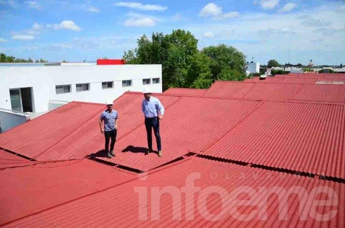 El intendente recorrió las obras que se realizan en Villa Magdalena