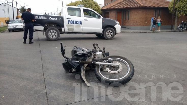 Fuerte choque con un herido trasladado al Hospital Municipal