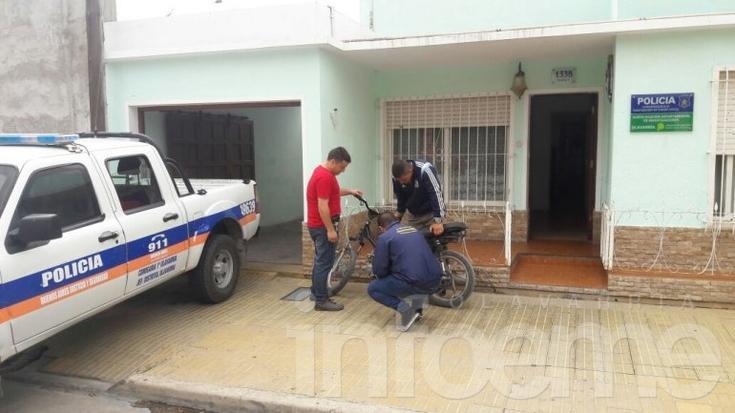 Menor de 14 años fue demorado con una moto robada