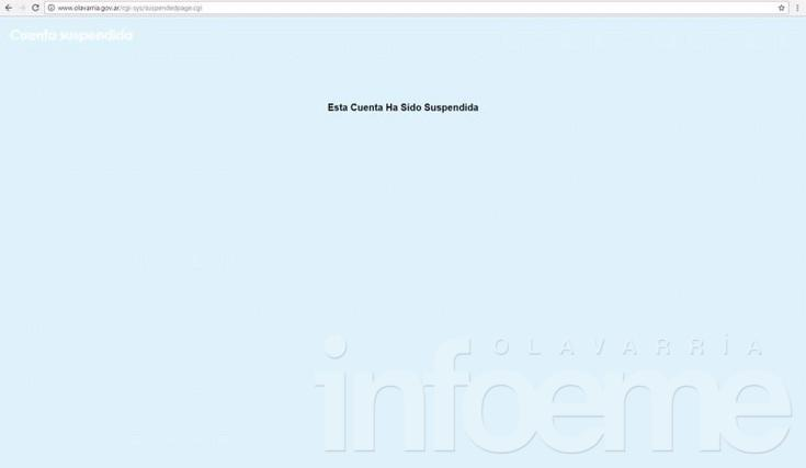Colapsó la web de Municipio y está fuera de servicio