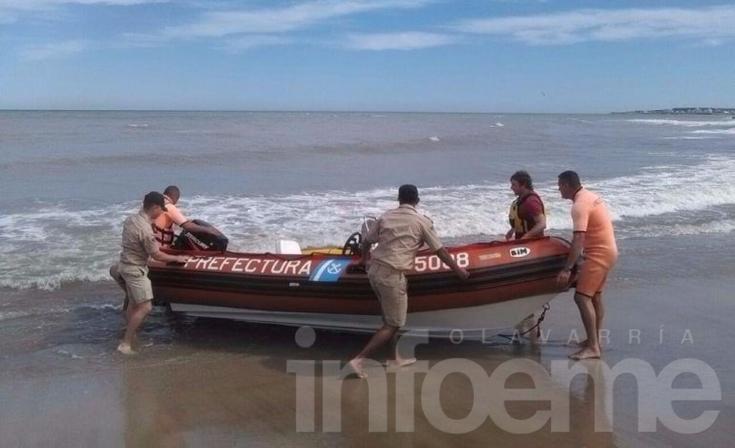 Prefectura rescató a un olavarriense que había quedado a la deriva