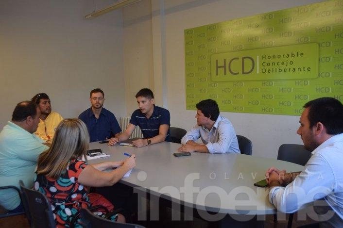Aguilera y Concejales del HCD con el Sindicato de Guardavidas