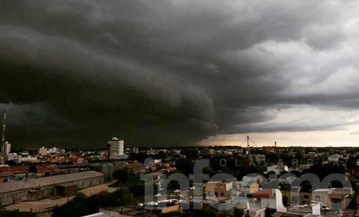 Impresionante foto de la tormenta en Olavarría