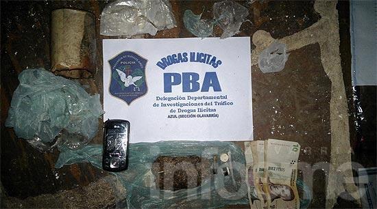 Secuestran cocaína y marihuana en un allanamiento
