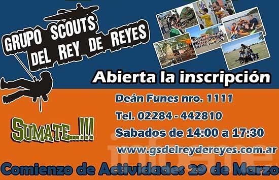 """Abierta la inscripción del Grupo Scout """"Del Rey de Reyes"""""""