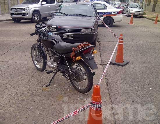 Motociclista herido en accidente en el microcentro
