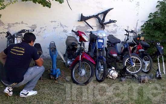 """Allanan """"taller clandestino"""" de motos"""