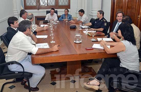 La Mesa Agropecuaria se reunió con autoridades policiales