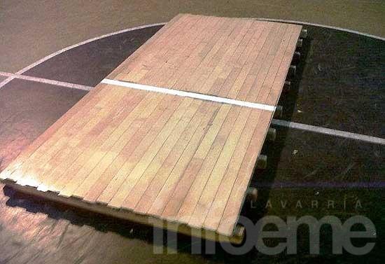San Martín tendrá piso de madera en su gimnasio