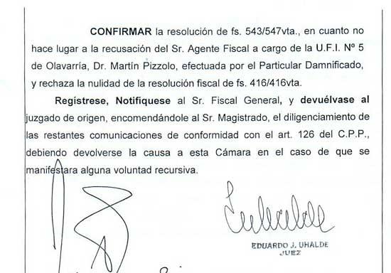 Caso Ortega: ratifican a Pizzolo como fiscal de la causa