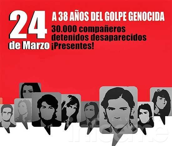 Acto por el 24 de marzo en la Plaza Central