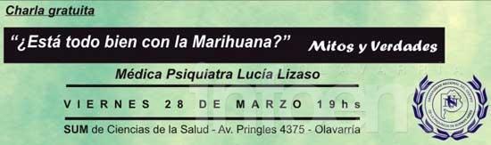Charla sobre el consumo de marihuana en la Escuela de Salud