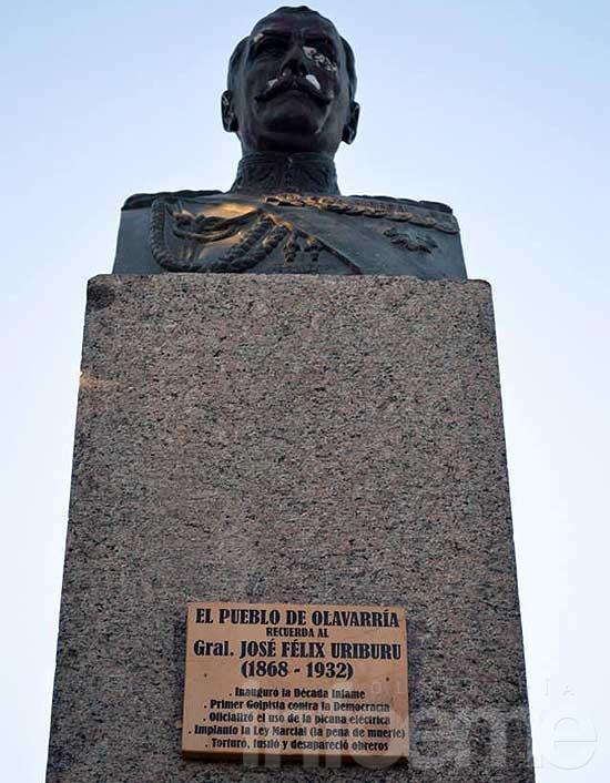 Placa conmemorativa a Uriburu,  primer presidente de facto