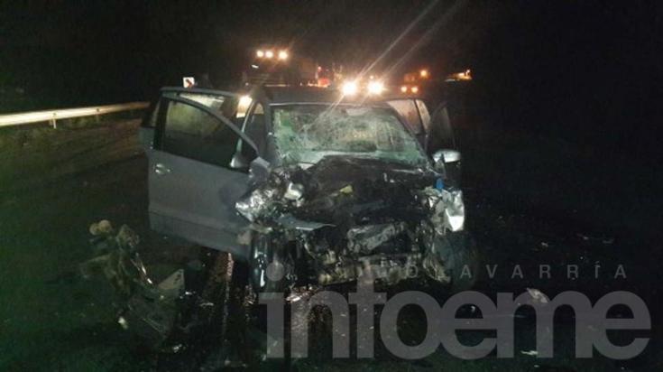 Camionero local involucrado en choque frontal sobre ruta 3