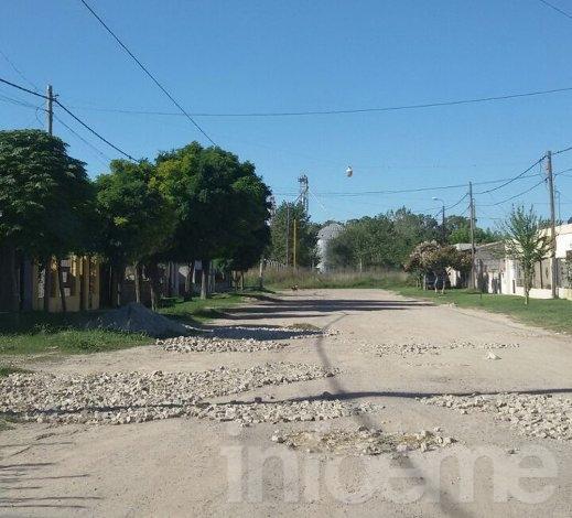 Reclamo por las calles en el Barrio Sarmiento Norte