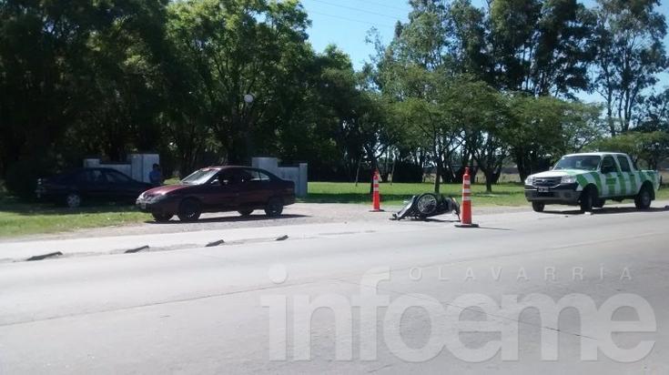 Un motociclista herido en el acceso a Corpi