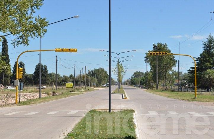 Se habilitó el semáforo de la Escuela Agropecuaria con modificaciones
