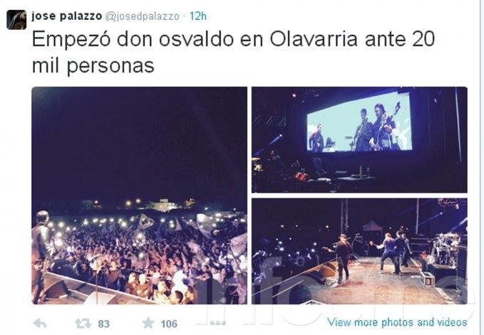 Así se vivió el recital de Don Osvaldo en las redes sociales