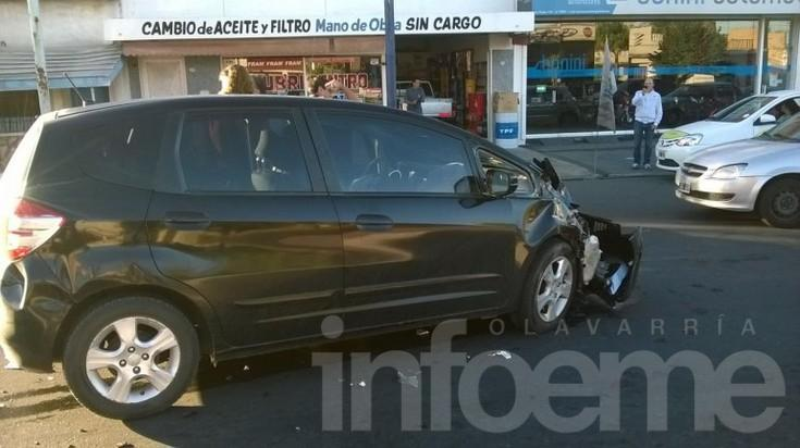 Fuerte choque en avenida Pringles y Bolívar