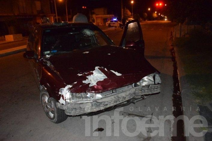 Una mujer herida en un choque violento choque