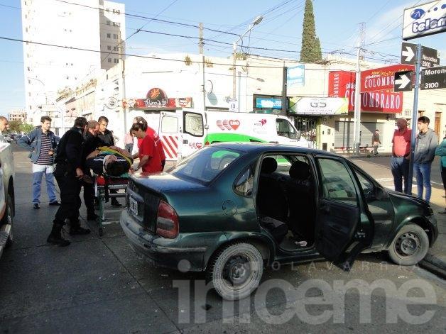 Violento choque en el centro: dos heridos