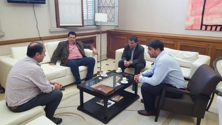 Galli recibió al intendente de Azul Hernán Bertellys