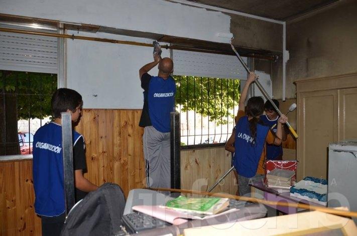 La Cámpora realizó una jornada solidaria en la Escuela N° 22