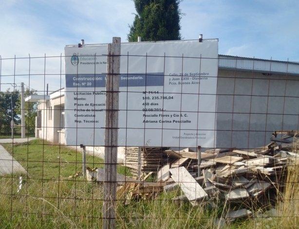 Estiman que la Secundaria Nº16 funcionará en su nueva sede a mitad de año