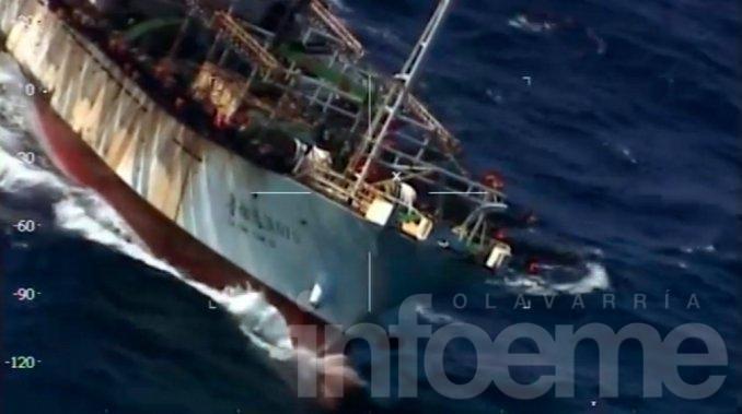 Prefectura Naval hundió un barco chino y rescató a su tripulación