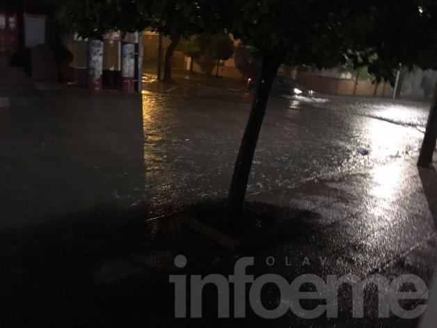 Intenso temporal atravesó a Olavarría: calles anegadas y clases suspendidas