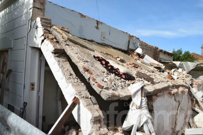 Por el temporal, se derrumbó un departamento en Pueblo Nuevo