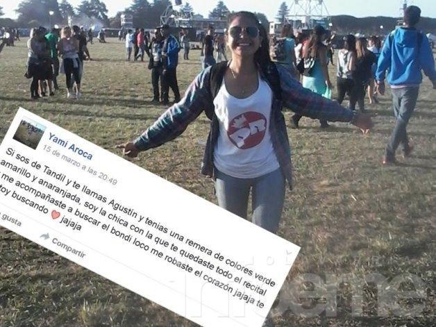 Se enamoró en el show del Indio y busca al chico por Facebook