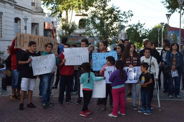 Movilización en el centro en reclamo de justicia por Martina