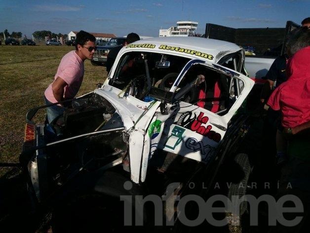 Mirá el video del accidente de Carlos Macaluso